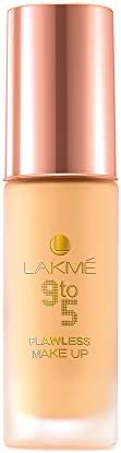 Lakmé 9 to 5 Flawless Makeup Foundation, Marble, 30ml