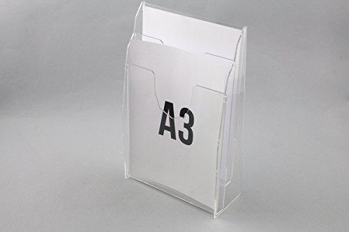 Rbt espositori porta depliant da banco con nr. 2 tasche f. to a3 verticali