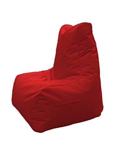 13casa - trone a5 - poltrona pouff. dim: 90x100x105 h cm. col: rosso. mat: poliestere.