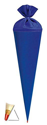 Schultüte - Rohling - kräftiges BLAU - 85 cm - mit Holzspitze / Tüllabschluß - Zuckertüte Roth - zum Basteln, Bemalen und Bekleben Bastelschultüte - 3