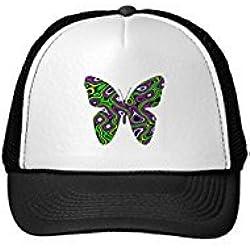 Funny Fractal. Gorra con diseño butterfly.