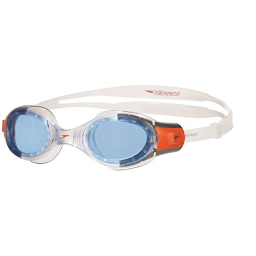 Speedo Unisex - Kinder Schwimmbrille Futura Biofuse, clear/blue, one size, 8-012333537