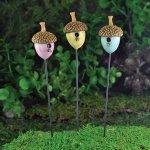 Fiddlehead Lot de 3 nids pour oiseaux, accessoires de jardin