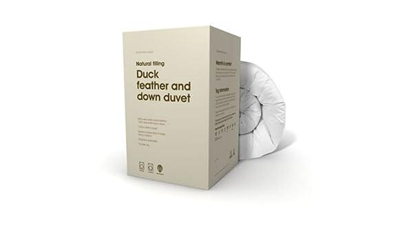 0c28b75afb87 Debenhams Duck feather & down duvet - single 13.5 tog duo: Amazon.co.uk:  Kitchen & Home