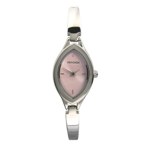 Sekonda Women's Quartz Watch with Pink Dial Analogue Display and Silver Bracelet 4047.71