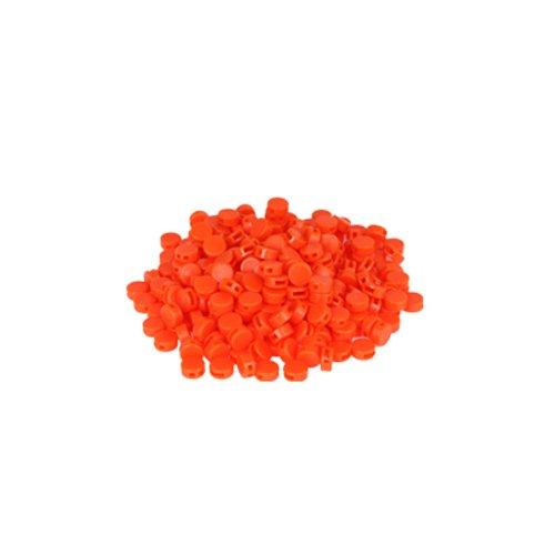 Preisvergleich Produktbild 250 St. Kunststoffplomben orange 8mm - Plomben