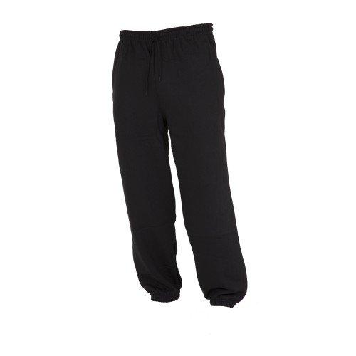 Floso - Pantalón de Chándal/Gimnasia/Deporte/Educación física Muy Holgados para Niños/Niñas Unisex con bajo elástico (9-10 años, Altura 134-140 cm/Gris)