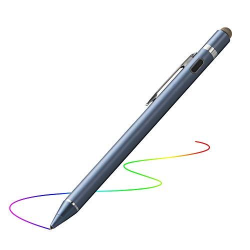 Evach Kapazitive Touchscreen Stift, Wieder Aufladbarem Digitaler Eingabe Stift Speziell Kompatibel für iPad Serie (Blau) (Ipad Stylus Fine)