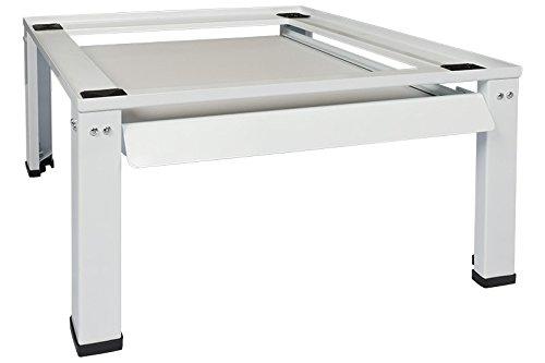 Standart Untergestell für Waschmaschine oder Trockner Sockel Podest Erhöhung Unterschrank für Kühlschrank, Hochwasserschutz neu mit zusätzlichem ausziehbarer Arbeitplatte und verstellbar