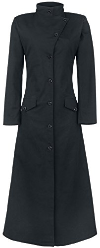 Gothicana by EMP Dark Lady Coat Cappotto donna nero XL