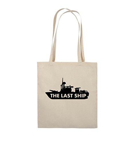 Comedy Bags - THE LAST SHIP - Jutebeutel - lange Henkel - 38x42cm - Farbe: Schwarz / Pink Natural / Schwarz