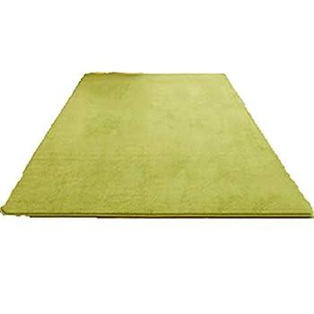 Couchage et mobilier Tapis Tapis Simple Table Basse Moderne Salon Tapis Maison Chambre Chambre Entièrement Mignon Rectangulaire Couverture De Chevet Tapis (Color : Green, Size : 160 * 80 * 1.3cm)