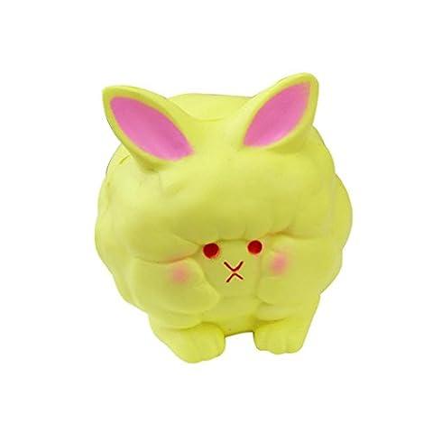 Yogogo Squeeze Mouton DéComposition Rapide Et Lente Jouets Cadeau De PâQues BandoulièRe (yellow)