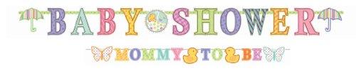 Amscan BB129304 Baby Shower Letter Banner Combo Pack -Each