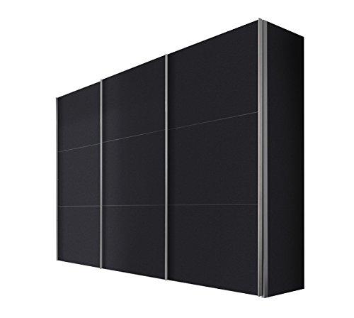Express Möbel Schwebetürenschrank 300 cm breite, 3-türig, Graphit Nachbildung, BxHxT 300x236x68 cm, Art Nr. 46790-969