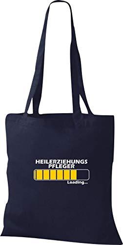 Stoffbeutel Baumwolltasche Loading HEILERZIEHUNGS PFLEGER, beste Berufe, Navy