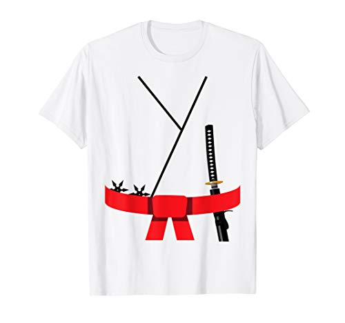 Niedliches Design Roter Gürtel Karate Custome Halloween T-Shirt
