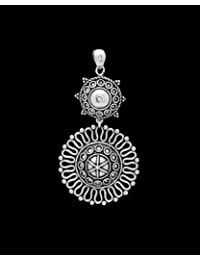 Voylla Traditional Alloy With Oxidized Silver Plated Pendants For Women - B01N5CE2WL