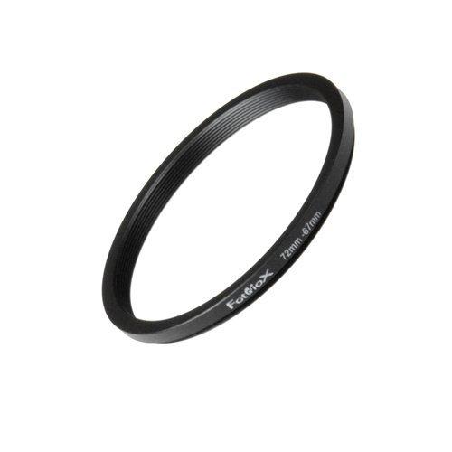 Fotodiox Metall Step Down Filteradapter Ring, eloxiert Schwarz Metall 72mm-67mm, 72-67 -- Objektivgewinde auf Filtergewinde 72mm Step-down Ring