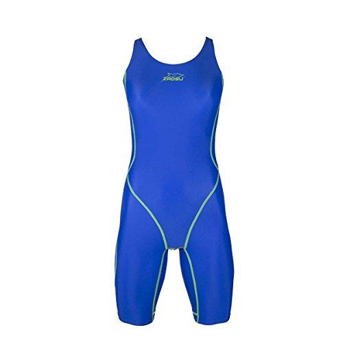 ZAOSU Wettkampf-Schwimmanzug Z-Blue für Mädchen und Damen in Blau, Größe:152