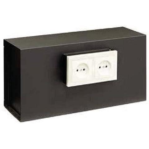 Arregui Socket - Caja fuerte camuflada como enchufe (acero, 400 x 200 x 130 mm) color negro