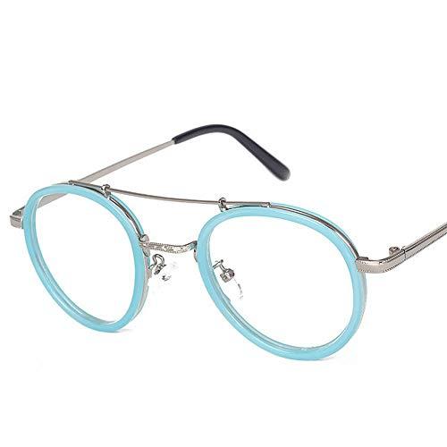 Polarisierte Sonnenbrille mit UV-Schutz Mädchen Mode Runde Metall Myopie Brillengestell Optische Brillen Nicht verschreibungspflichtige Brillengestell für Frauen. Superleichtes Rahmen-Fischen, das Gol