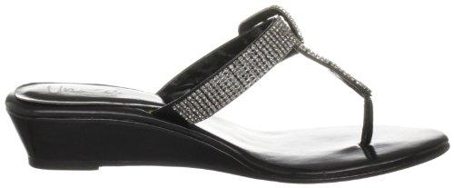 Unze Evening Sandals, Sandali col tacco donna Nero (Schwarz (L18259W))