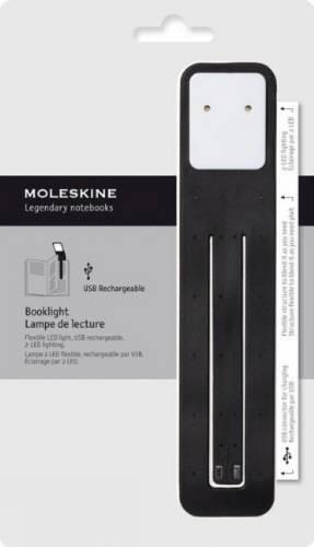 Moleskine Clásica - Lámpara de lectura, color negro