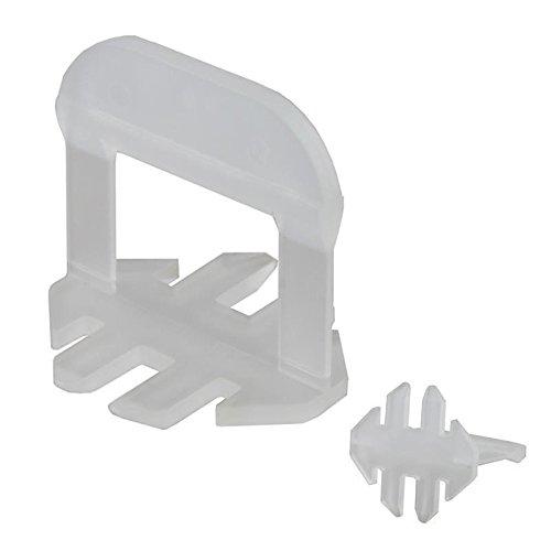 1000 Stück Lantelme KaroFit Fliesen Nivelliersystem Zuglaschen für Fugenbreite 2mm zur Boden oder Wandmontage - Nivelliersystem - Verlegesystem - Verlegehilfe . Laschen auch für großformatige Fliesenverlegung 3-15 mm