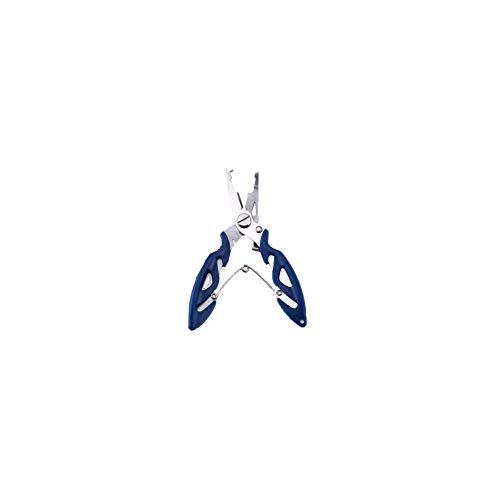 Fishing Pliers Stainless Steel Fishing Pliers Cutters Multifunctional Hand Hook Remover Blue (Leader-ringe Fishing Fly)