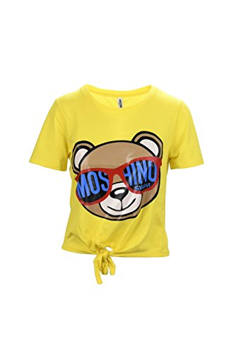 Moschino swim teddy bear yellow t-shirt con fiocco-l