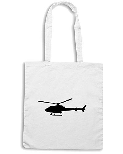 T-Shirtshock - Borsa Shopping TM0505 war elicopter Bianco