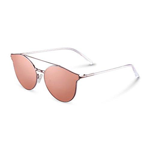 Damenmode Sonnenbrillen Frische Persönlichkeit Cat Eye Sonnenbrille Männer Quadrat Gesicht Elegante Reflektierende Gläser Retro Polarisator Fahren Sonnenbrille,A