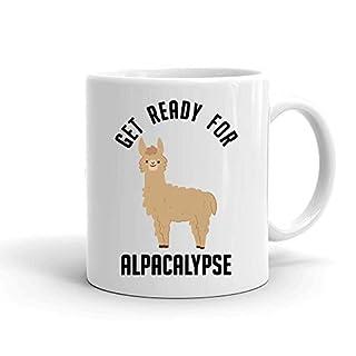 IDcommerce Get Ready for Alpacalypse Weißer Keramik-Becher für Tee und Kaffee