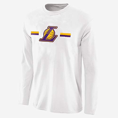 YUNMO Neue langärmelige Kostüm NBA Basketball T-Shirt Herbst Lakers atmungsaktiv und schnell trocknend Trainingsanzug zum Aufwärmen (Color : A, Size : - Dallas Cowboy Kostüm Kind