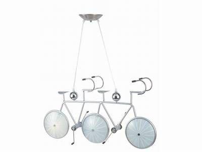 Designer Glas Decken-Pendelleuchte mit Motiv Tandem Hängeleuchte Kinderlampe
