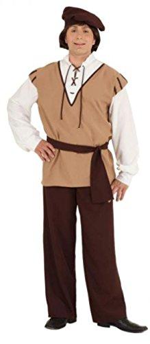 Land Polen Kostüm - O766-58-60 Herren braun-beige Mittelalter Knecht Kostüm Gr.58-60