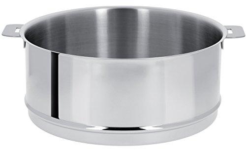 Cristel - ECV26Q- Élément cuit vapeur inox 26cm sans poignée amovible- Mutine Amovible.