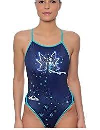 Turbo - Bañador Mujer Hada Profesional Señora, Traje de Baño de Natacion Entrenamiento Competicion,