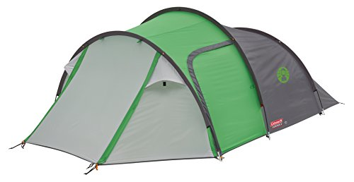 Coleman Tent Cortes 4, 4 man lightweight Dome tent, 4 person Family Camping Tent, 100% waterproof Tunnel Tent with sewn in groundsheet, 1 large bedroom & 1 large storage area 2
