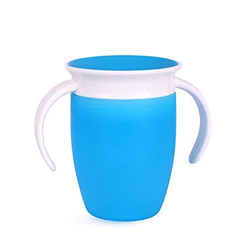 300 ml Babyflasche Babyflasche Wasserkocher Training (Color : Blue) (Baby Flasche Bier Trinken Kann)