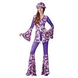 Bristol Novelty AC755 Groovy Hippie Dame Kostüm
