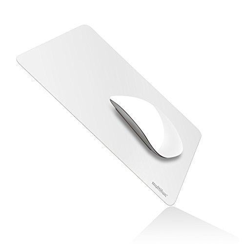 Mouse Pad Mauspad Gaming,multifun Mousepads Wasserdicht,Ultra Dünn Rutschfest Mousepad,Anti-Rutsch Mausmatte, Mouse Mat Schreibtischunterlage für Computer PC Laptop Office, Weiß