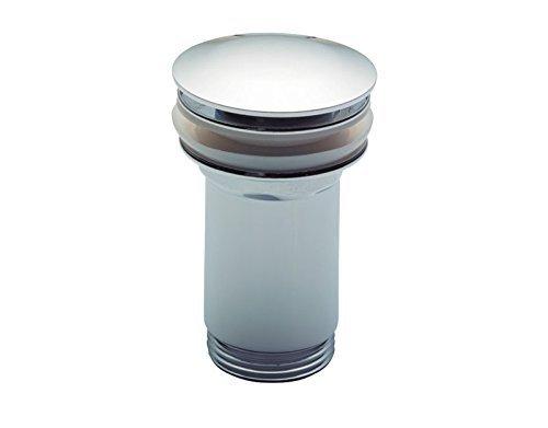 Luxus Design Universal Ablaufventil | CLICK CLACK | Ablaufgarnitur für den Waschtisch | Push Up Ventil | Waschbecken Ablauf mit Überlauf | Messing verchromt