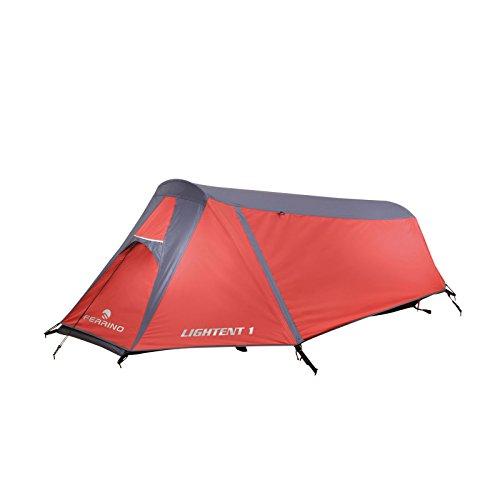 1 Mann Zelt leicht & kleines Packmaß- Ferrino Lightent 1 Leichtzelt (1,37 kg) rot