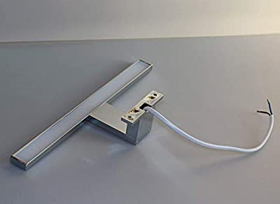 LED Aufbauleuchte / Chrom / Lichtfarbe 6000k kalt weiß / Art. 2031 / Schrankleuchte 230V / Spiegelleuchte / Badleuchte