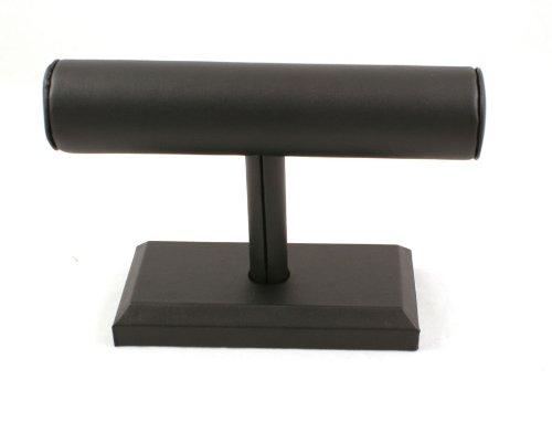 bracelet-bangle-watch-t-bar-stand-leatherette-black