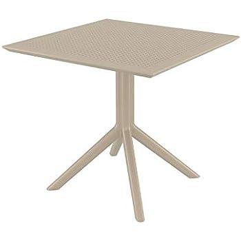 CLP Table de Jardin Sky 80x 80 cm- Table de Jardin ...