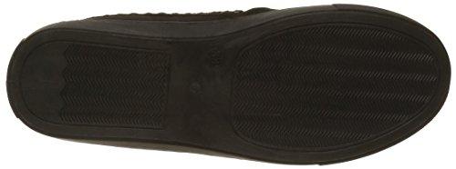 Slippers en suédine avec détails métalisés Noir