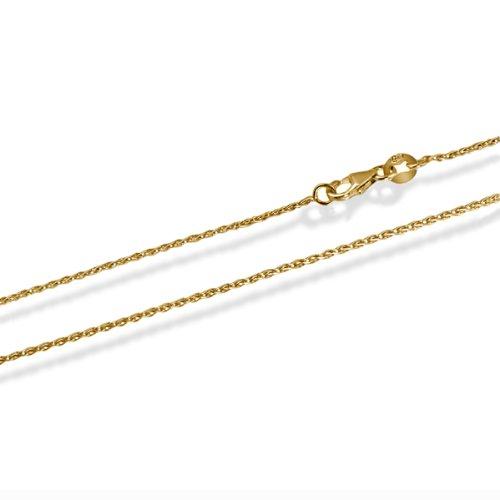 Goldmaid Unisex Zopfkette 585 Gold 45 cm Stärke 0.8 mm